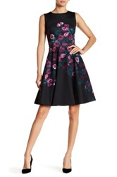 Erin Fetherston Suzie Floral Fit And Flare Dress Black