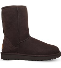 Ugg Classic Ii Short Sheepskin Boots Dark Brown