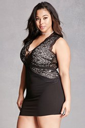Forever 21 Plus Size Crochet Panel Dress