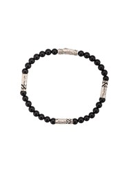John Hardy Silver Classic Chain Onyx Round Bead Four Black
