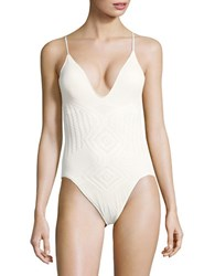 Polo Ralph Lauren Engineered Crochet One Piece Cream