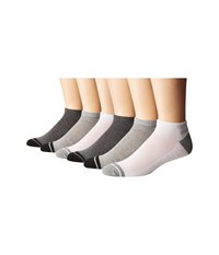 Steve Madden 6 Pack Low Cut Athletic Grey Men's Low Cut Socks Shoes Gray