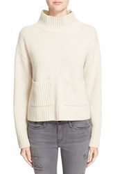 Frame Women's Wool And Cashmere Mock Neck Sweater
