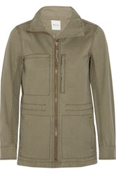 Madewell Fleet Cotton Canvas Jacket Army Green