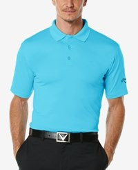 Callaway Men's Golf Performance Solid Golf Polo Blue Atoll