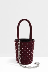 Alexander Wang Roxy Studded Bucket Bag Red