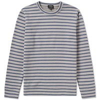 A.P.C. Albert Stripe Sweat Blue
