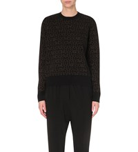 Givenchy Star Print Wool And Cashmere Blend Jumper Black