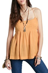 Women's Free People 'Blackbird' Embroidered Babydoll Top Mango