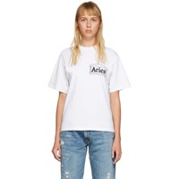 Aries White Skate T Shirt