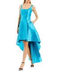 Nicole Miller New York Asymmetric Hem Sleeveless Dress Turquoise