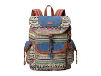 Sakroots Artist Circle Flap Backpack Charcoal One World Backpack Bags Multi