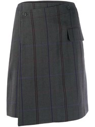 Acne Studios Striped Mini Skirt Grey