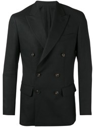 Umit Benan Double Breasted Blazer Black