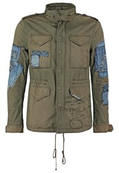 Desigual Summer Jacket Olive Branch