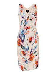 Ariella V Neck Wrap Dress Graphic Floral Print