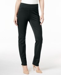 Charter Club Petite Cambridge Tummy Control Ponte Leggings Only At Macy's Deep Black