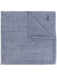 Brioni Scarf Men Cashmere One Size Grey