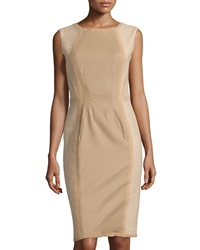 Philosophy Di Alberta Ferretti Textured Panel Dress Camel