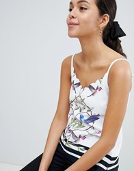 Ted Baker Brica Scalloped Cami In High Grove White