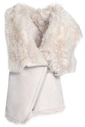 Karl Donoghue Shearling Vest Light Gray