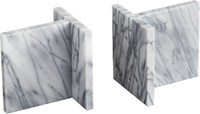 Cb2 Set Of 2 Endiron Marble Bookends