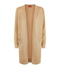 Missoni Lurex Midi Cardigan Female Gold