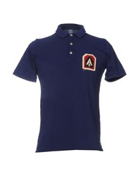 Authentic Original Vintage Style Polo Shirts Bright Blue