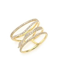Meira T Diamond And 14K Yellow Gold Multi Band Ring