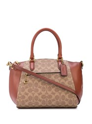 Coach Elise Monogram Print Bag Brown