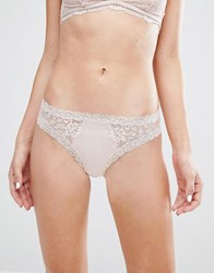 Monki Lace Hipster Brief Pink