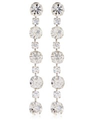 Ca And Lou Victoria Simple Drop Earrings Crystal