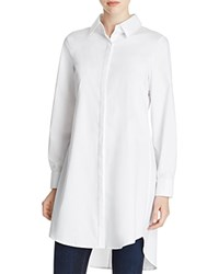 Cupio Zip Back High Low Tunic Shirt White