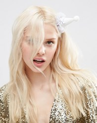 Asos Limited Edition Hen Party Bride Hair Clip White