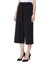Tahari By Arthur S. Levine Cropped Culotte Pants Black