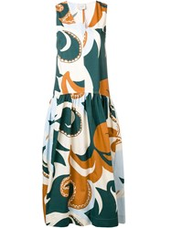 Alysi Abstract Print Dress Blue
