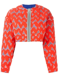 Markus Lupfer 'Lexi' Cropped Jacket Red