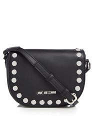 Love Moschino Patent Small Crossbody Bag Black