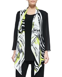 Caroline Rose Twist Of Lime Waterfall Jacket Petite