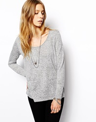 2Nd Day Finer Top In Marl Jersey Grey