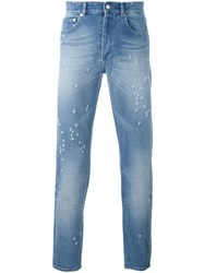 Givenchy Distressed Slim Fit Jeans Blue