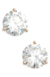 Women's Nordstrom Precious Metal Plated 3Ct Tw Cubic Zirconia Earrings Rose Gold
