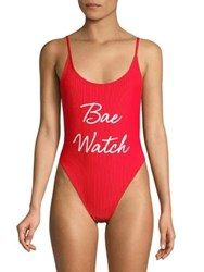Private Party Bae Watch Bali One Piece Swimsuit Red