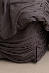 Anthropologie Georgina Bed Skirt Dark Grey
