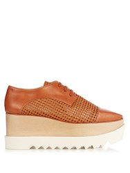 Stella Mccartney Elyse Lace Up Platform Shoes Tan