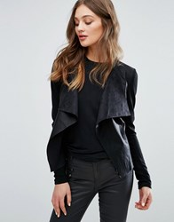 Only Sound Faux Leather Jacket Black