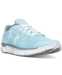 Under Armour Women's Micro G Speed Swift Running Sneakers From Finish Line Light Blue