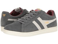 Gola Equipe Suede Graphite White Burgundy Men's Shoes Gray