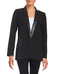 Dex Leatherette Blazer Black