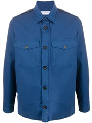 Department 5 Long Sleeve Fitted Shirt Blue
